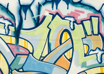 Abstract Graffiti in Blue