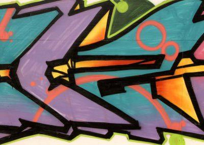 Abstract Graffiti in purple & Green