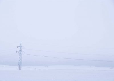 Electriciteitsmast in sneeuw - Electricity Pylon in Snow