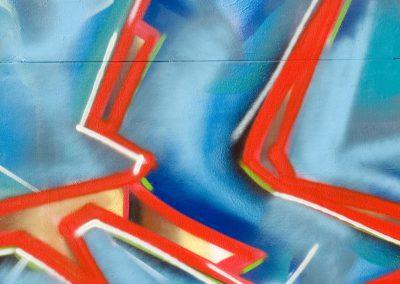 Flash Graffiti on Blue