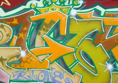 Graffiti with Orange Arrows