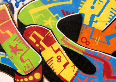 Multicolored Text Graffiti