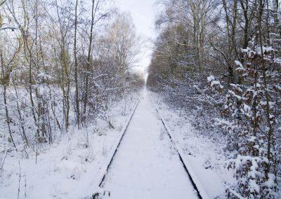 Spoor in winterlandschap - Railroad in Winter Landscape
