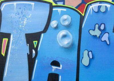 Text Graffiti in Blue