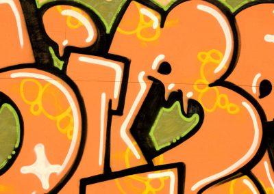 Text Graffiti in Orange