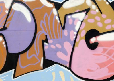 Text Graffiti in Pink & Brown