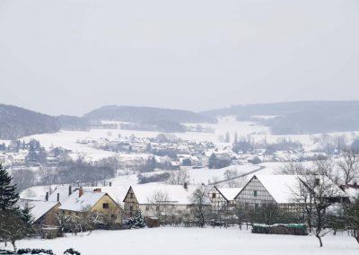 Winter Landchap met huizen - Winter Landcape with Houses