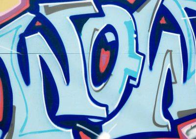 Wow Graffiti in Blue